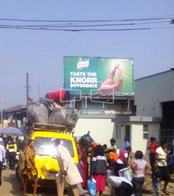 Rooftop Billboard, Ariaria Market
