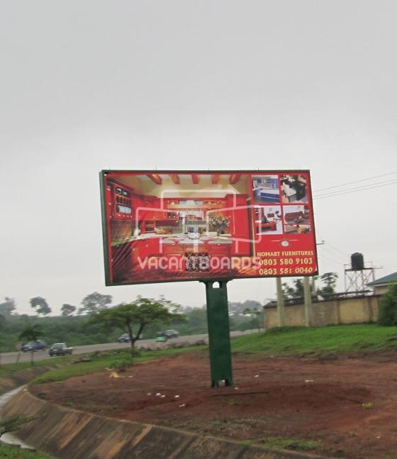 Backlit Billboard, Gwarimpa, Life Camp Roundabout, Abuja