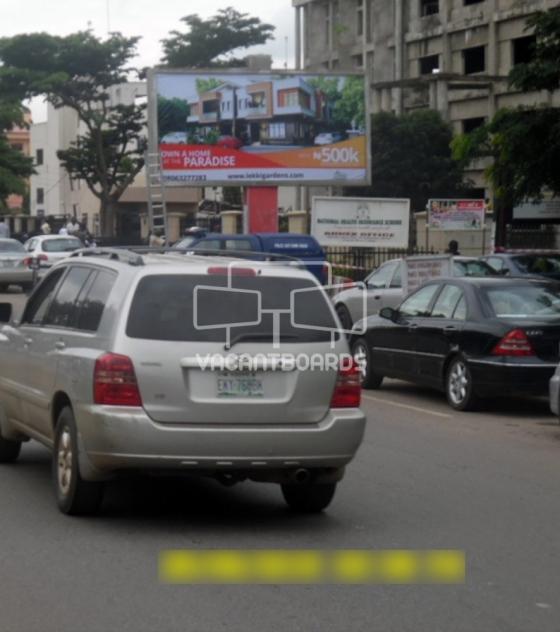 Backlit Billboard, Ademola Adetokunbo Crescent by Fomella Street, Abuja