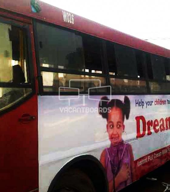 Lag bus transit advertising, Lagos
