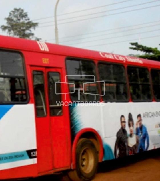 Bus Transit advertising, Enugu