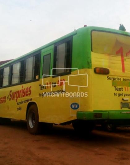 BRT Transit Advertising - Ring Road-Agbor Park, Edo