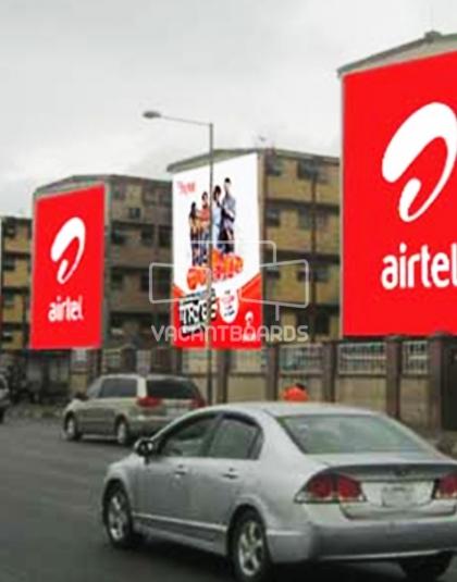 Wall drape, Western Avenue, Lagos