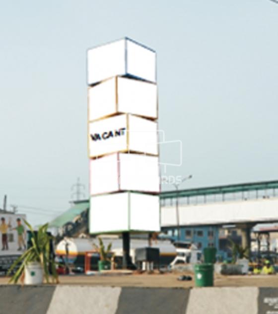 Stacked Cube Billboard – Kudirat Abiola Way, Lagos