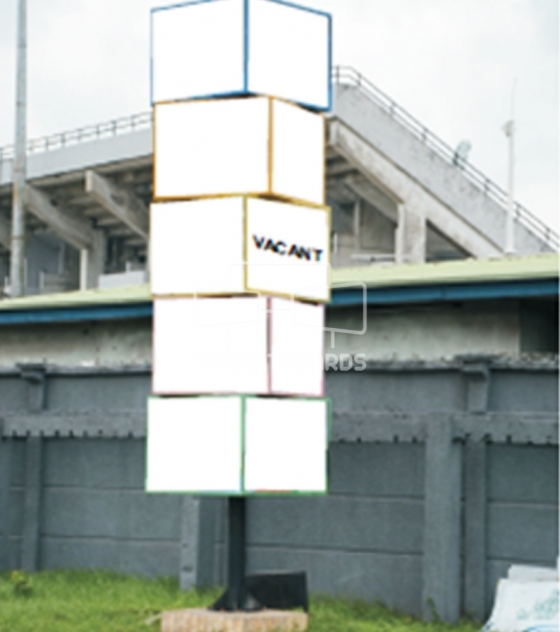 Stacked Cube Billboard – Funsho Williams Avenue, Lagos