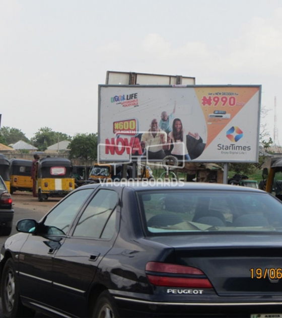 48 sheet billboard -Minna Bye Pass , Niger