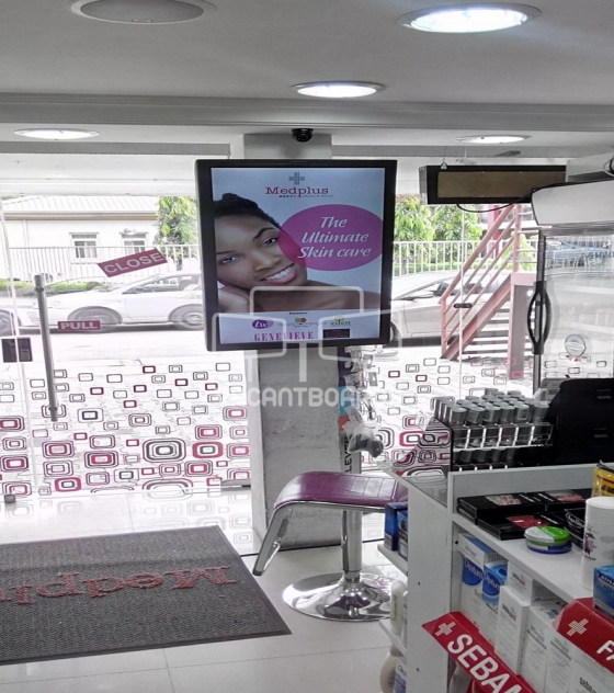 Digital Screen – MedPlus Pharmacy -1004 Housing Estate, Victoria Island Lagos