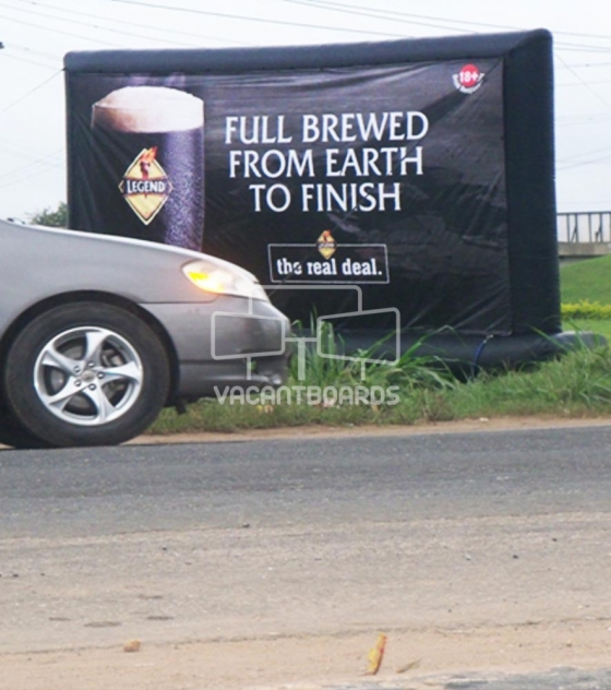 Inflatable Billboard – Lekki-Epe Expressway, Lagos