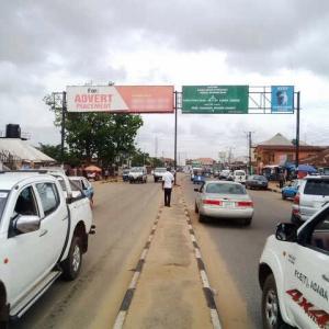 Facing traffic to Onitsha