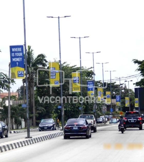 Lamp Posts Advertising – Bourdillon, Ikoyi