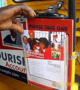 Keke Transit Leaflet Dispenser