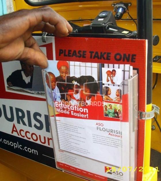 Keke Transit Advertising Leaflet Holder – Interior