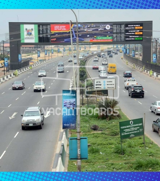 LED Gantry Billboard, Oworonshoki, Third Mainland Bridge, Lagos