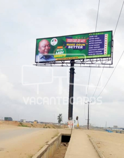 Unipole Billboard – Lagos Ibadan Expressway, Magboro