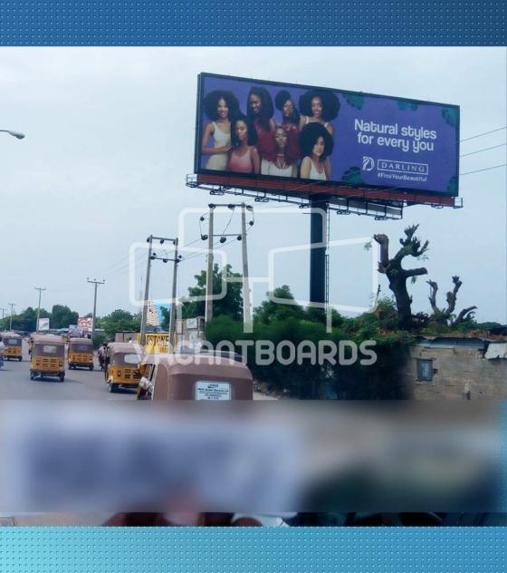 Unipole Billboard – Queen Cinema, Airport Road, Kano