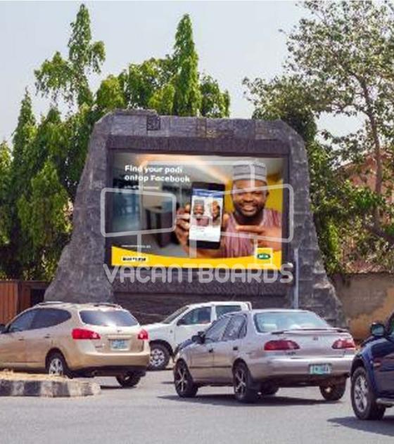 Rock LED Billboard – Adetokunbo Ademola Crescent, Wuse 2, Abuja