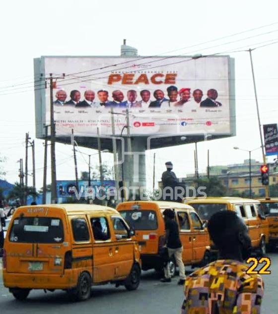 LED Billboard – Agidingbi Junction, Obafemi Awolowo Way, Ikeja